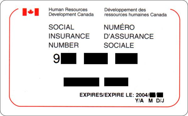 numéro d'assurance sociale
