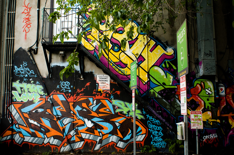 rush lane graffiti alley