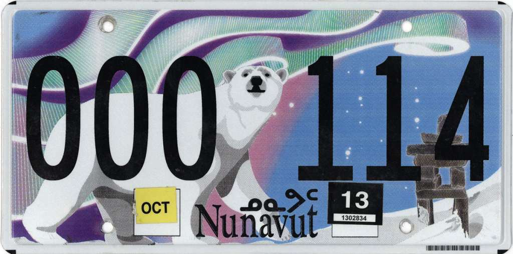 immatriculation nunavut
