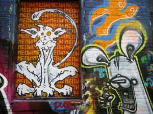 street art graffiti alley