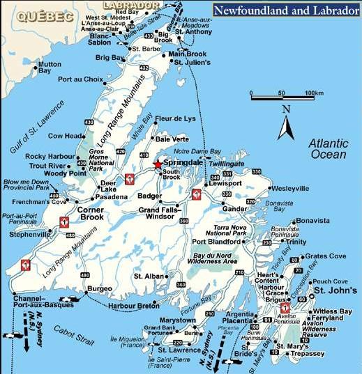 carte terre neuve