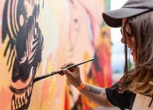 woman paint